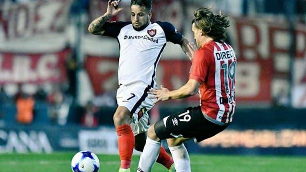 El choque con Desábato en el encuentro entre San Lorenzo y Estudiantes