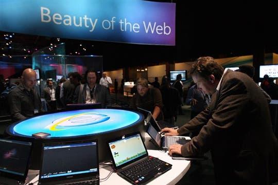 La presentación del nuevo Internet Explorer 9 en San Francisco, Estados Unidos. Foto: EFE