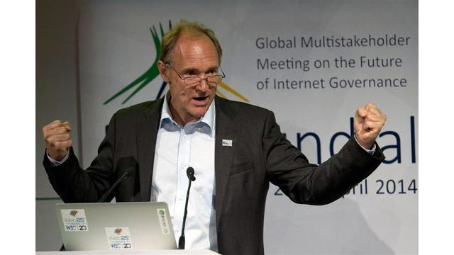 Tim Berners-Lee en Brasil, durante la cumbre NetMundial, en 2014