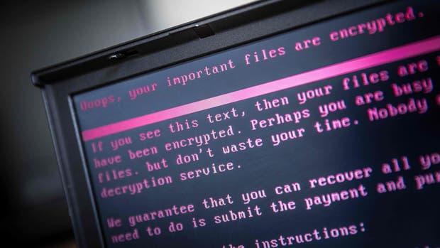 El texto que muestran las computadoras infectadas por ransomware