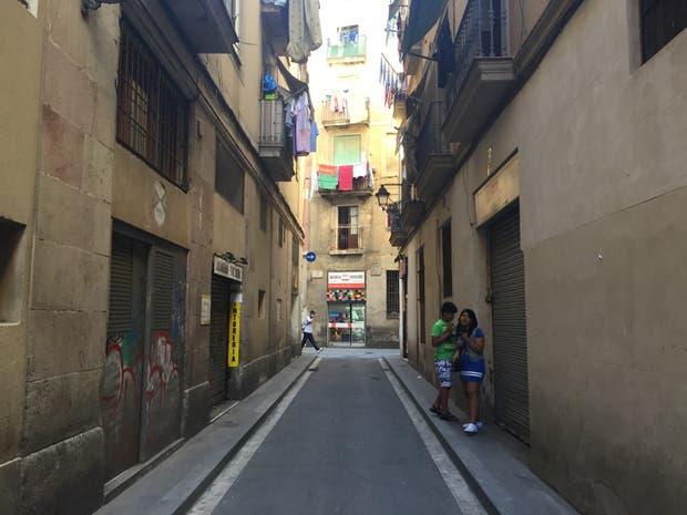 Calle de la Riereta: una cuadra en el barrio del Raval.