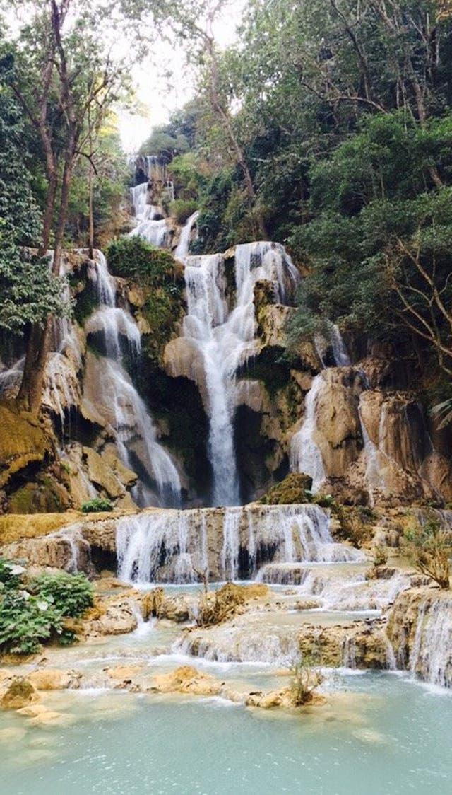 "Kuang Si Falls, en Laos, un espectáculo ""sanador"""