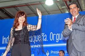 Cristina Kirchner defendió el acuerdo con Chevrón durante un acto con el gobernador de Chaco, Jorge Capitanich