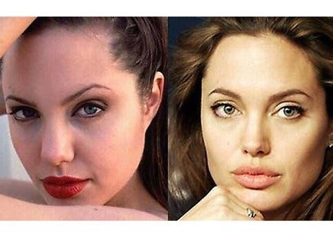 Antes o después, la belleza de Angelina Jolie es indudable. Foto: /www.dailycognition.com