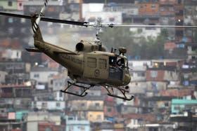 Una postal del operativo de hoy montado en la favela más conocida de América Latina
