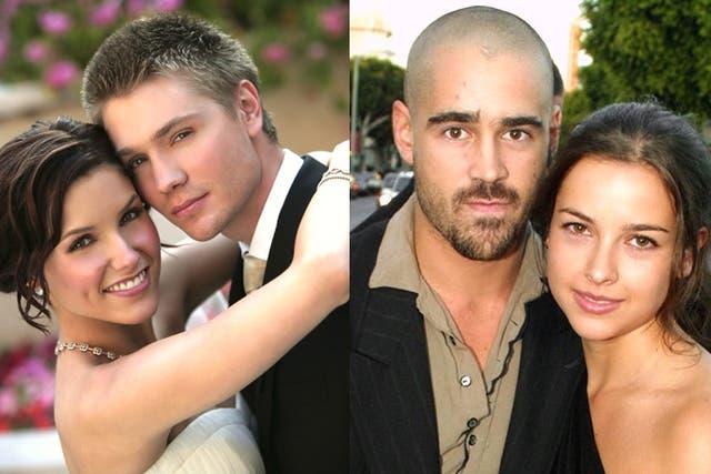 Los ex protagonistas de la serie One Tree Hill, Sophie Bush y Chad Michael Murray; Colin Farrell y su ex mujer Amelie Warner