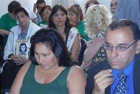María Ovando, durante el juicio