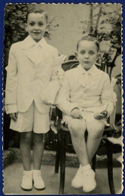 Jorge (izq.) y su hermano Oscar, hoy fallecido