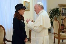 La Presidenta y el Papa, en la visita que la jefa de Estado hizo al Vaticano hace unas semanas