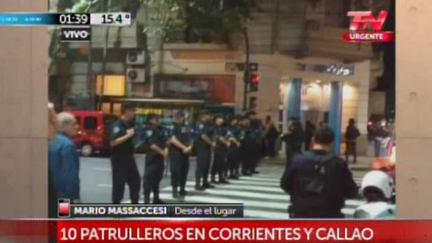 Toma de rehénes en Callao y Corrientes