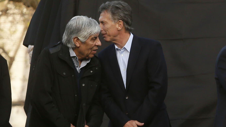 Moyano y Macri, en un acto en plena campaña electoral foto: Archivo LA NACION / Hernán Zenteno
