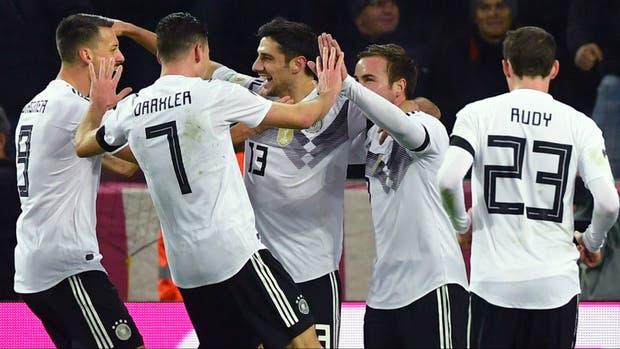 Alemania empata 2-2 con Francia en amistoso de fútbol