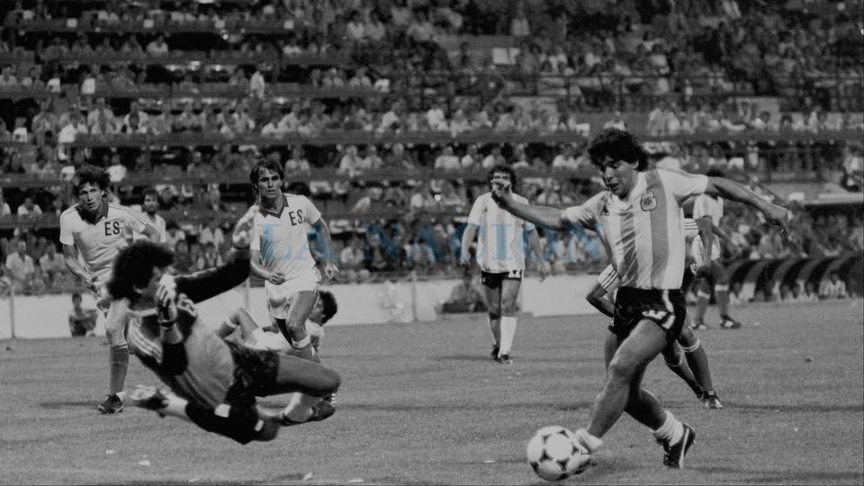 23-6-1982: una oportunidad desperdiciada contra El Salvador. Foto: LA NACION