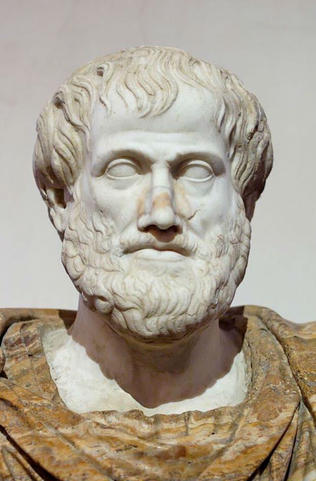 Copia romana de un busto de Aristóteles de Lisipo (330 a.C.)