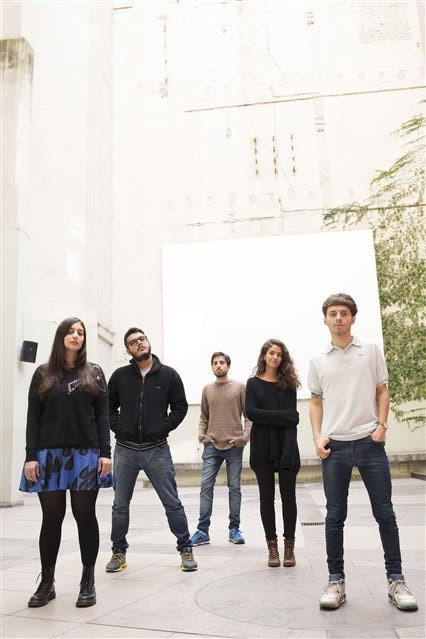 De izq. a der.: Sofía Noble, Bruno Del Giudice, Juan Gugger, María Julia Rossetti y Danilo Cicive