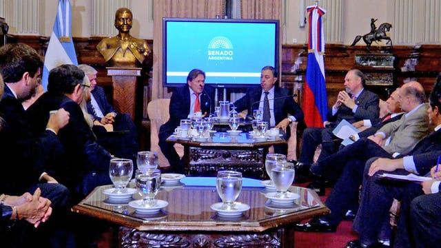 Victor Koronelli, el embajador ruso, visitó el Senado de la Nación