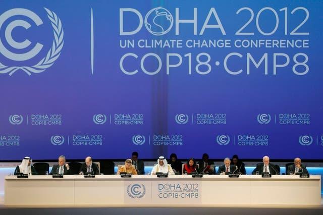 La primera jornada del debate por el cambio climático, en Qatar