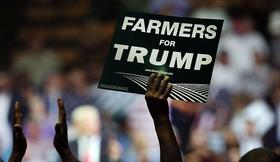 Los farmers apoyaron en la campaña a Trump
