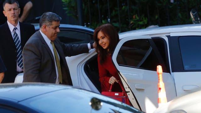 Cristina Kirchner llega a los tribunales de Comodoro Py