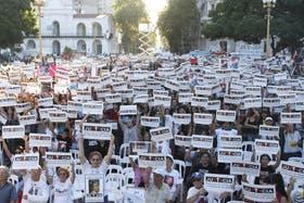 Los familiares de las víctimas levantaron un único cartel: Justicia