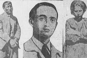 Salvador Marino a la izquierda, esposado tras la detención, y su mujer, Elvira Farulla, a la derecha; en el centro, Gregorio Russin, el hombre que los ayudó a escapar