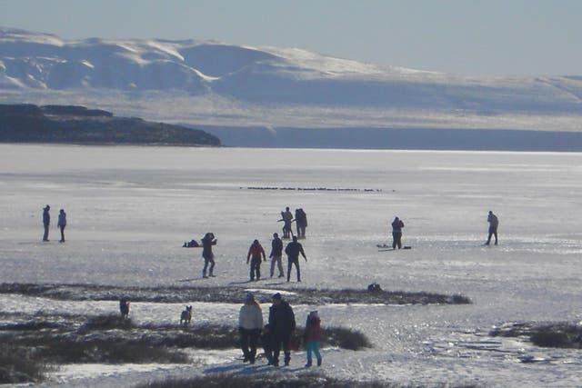 El Calafate Santa Cruz ciudad frío nevada temperatura bajo cero nieve invierno invernal