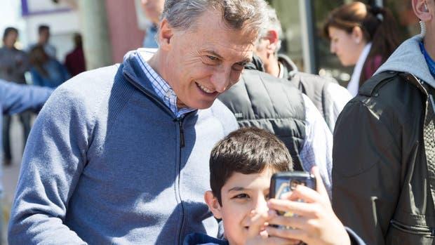 Mauricio Macri encabezó el timbreo nacional desde la ciudad entrerriana de Paranacito