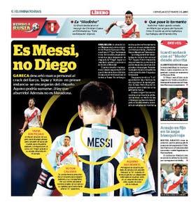 El Líbero menospreció a Messi