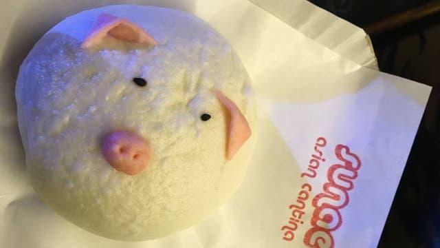El Sia Pao de Sunae Asian Cantina relleno de cerdo adobado