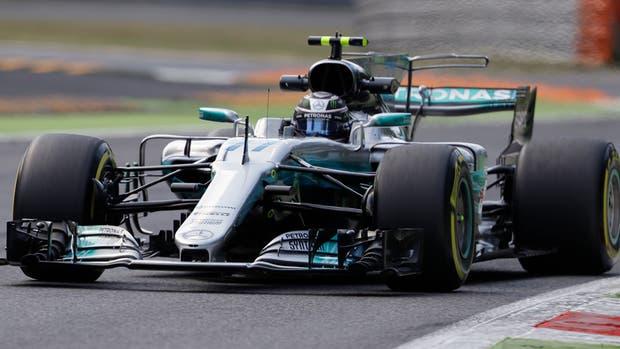 Valtteri Bottas, en la practica de Monza de la Formula 1