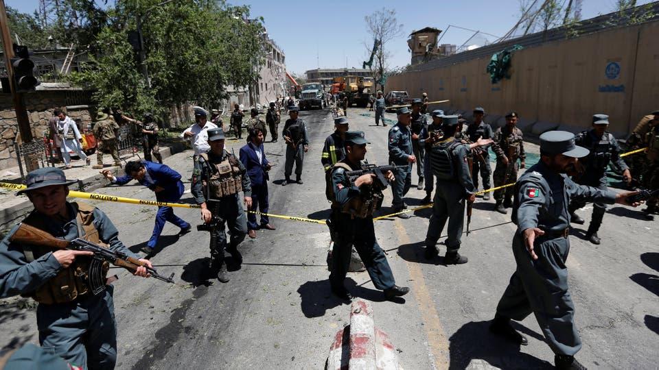 Cientos de policías controlan la zona. Foto: Reuters