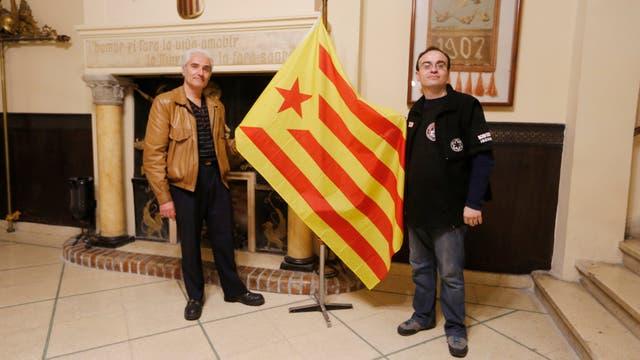 Ramón Amate y Carlos Vilanova en Casal de Catalunya