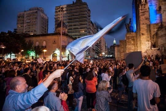 Marcha en Rosario. Foto: LA NACION / Marcelo Manera