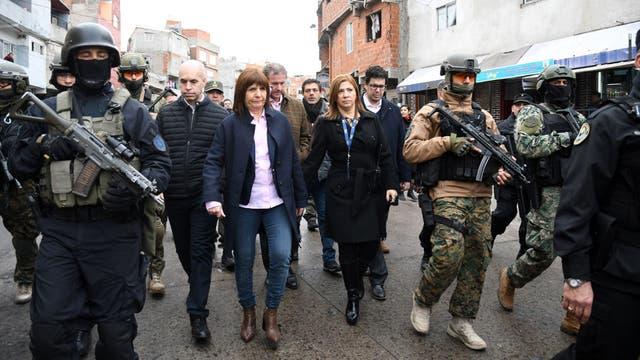La ministra Bullrich y Rodríguez Larreta recorrieron la villa 1-11-14