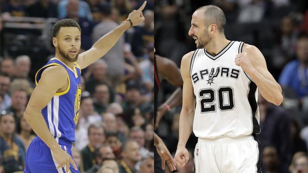 Curry vs. Ginóbili, un duelo apasionante