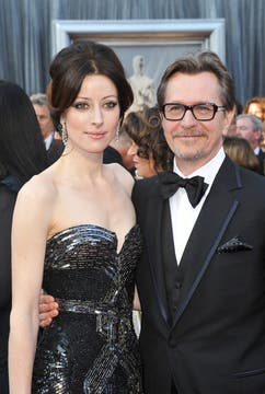 Gary Oldman and his wife Alexandra Edenborough. Foto: AFP
