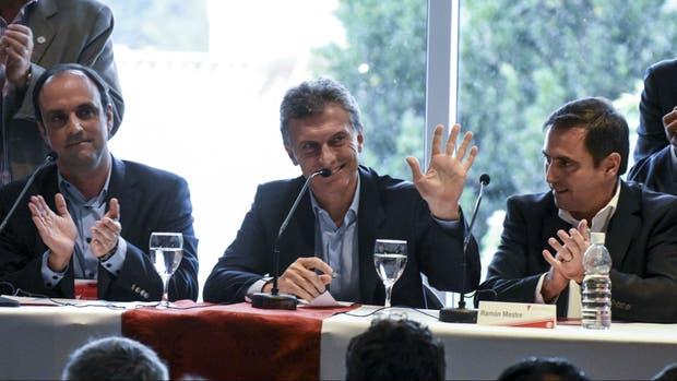 Mauricio Macri, en la reunión con dirigentes de la UCR