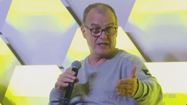 Bielsa, durante su discurso en Brasil