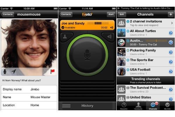 Zello funciona como un handy o un Nextel, es decir, con comunicaciones alternadas