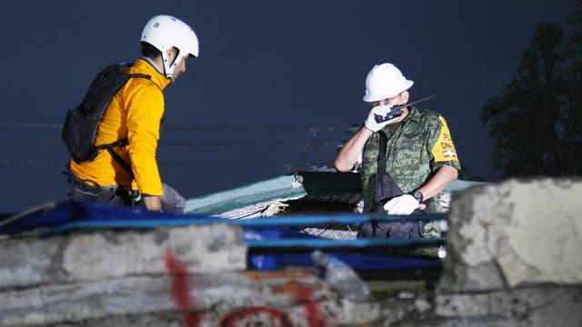 Los trabajos de rescate en la escuela Rébsamen