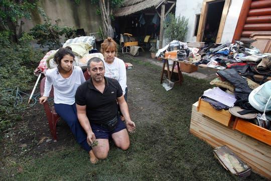 Adrián Vidal: Perdimos el trabajo y lo que construimos en una vida, comentó. Foto: LA NACION / Ignacio Coló