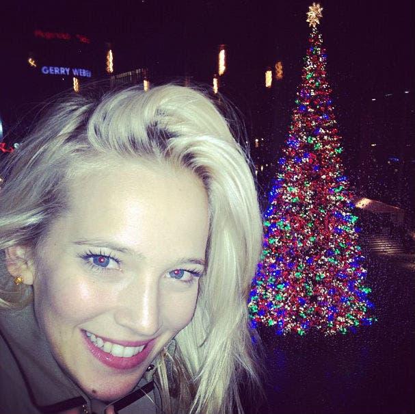 La actriz, preparándose para Navidad. Foto: /@lulopilato