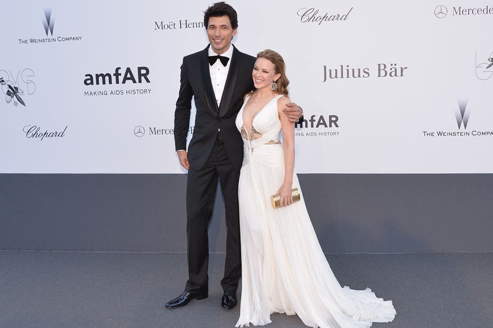 Kylie Minogue y su pareja, Andrés Velencoso.  Foto:  / Getty Images