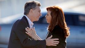 Mauricio Macri y Cristina Kirchner, en uno de los últimos actos públicos que compartieron: la inauguración del empalme entre la Au. Illia y la Av. Cantilo