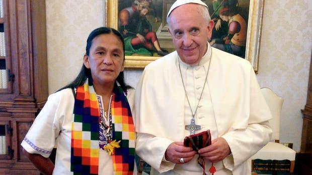 El Papa recibió a Milagro Sala en junio de 2014