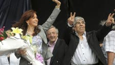 Moyano junto a Cristina y Néstor Kirchner