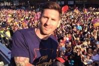 El desfile de Barcelona campeón en España... con el baile de Piqué