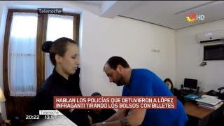 Entrevista a los policías que detuvieron a López. Fuente: Canal 13