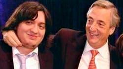 Máximo Kirchner y su padre, el fallecido ex presidente Néstor Kirchner