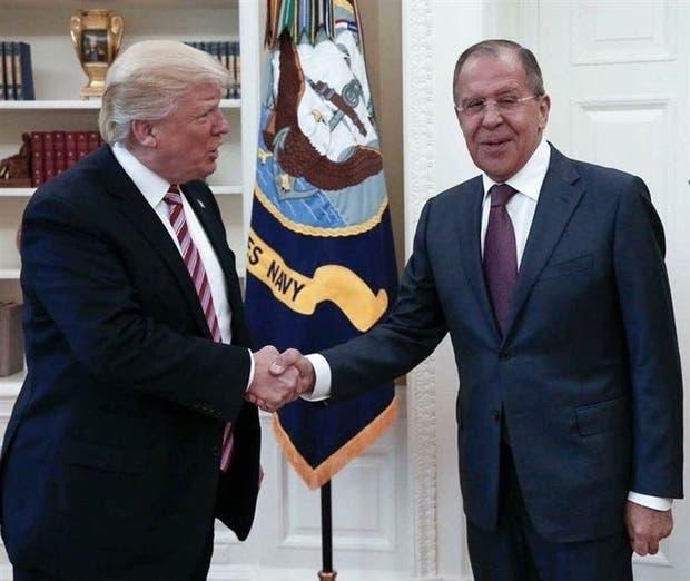Trump se reunió con el canciller ruso, Sergei Lavrov, ayer, en la Casa Blanca
